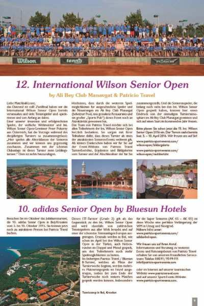 12. Int. Wilson Senior Open & <br/> 10. adidas Senior Open by Bluesun Hotels